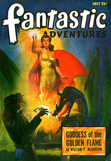 Fantastic Adventures scifi magazine, Goddess of the Golden Flame