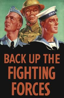 Back up the Fighting Forces Poster
