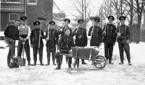 Firefighters and winter snows, WW2