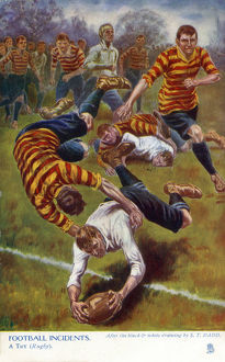 new items grenville collins collection/football incidents try rugby