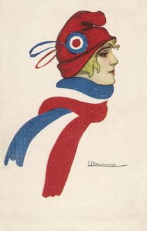 FRENCH FLAG-SCARF