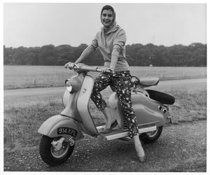 GIRL ON A LAMBRETTA
