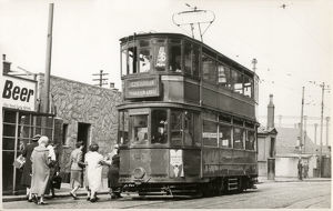 new items grenville collins collection/glasgow tram number 26 scotstoun bridgeton cross