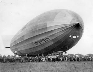 The Graf Zeppelin LZ 127 landed at Hanworth Aero Park