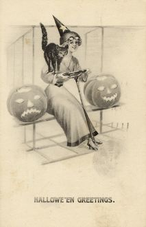 HALLOWEEN/GIRL/CAT/PUMP.