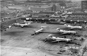 Hawker Siddeley Tridents of BEA at Heathrow Airport