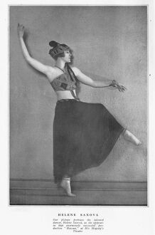 Helena Saxova, the talented dancer as she appears in Hassan