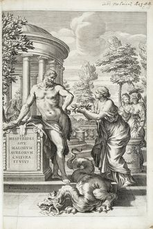 Hercules honoured by the Hesperides.