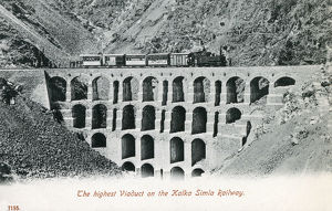 new items grenville collins collection/highest viaduct kalka shimla railway