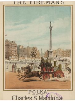 horse drawn fire engine trafalgar square london