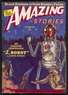 I Robot, Amazing Stories Scifi Magazine Cover