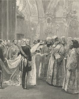 The Imperial wedding at St. Petersburg