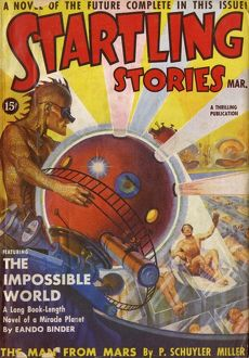The Impossible World, Startling Stories Scifi Magazine Cover