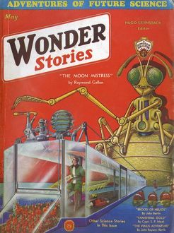 Insect God, Wonder Stories Scifi Magazine Cover