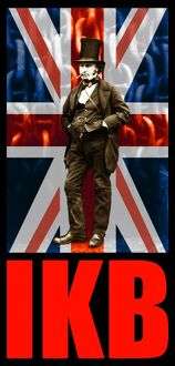 Isambard Kingdom Brunel, IKB union jack flag - T-shirt / poster print design