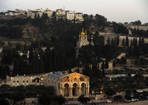 Israel. Jerusalem. Church of the All Nations and the Garden