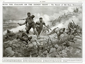 Italian soldiers on the Isonzo Front