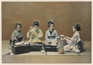 JAPANESE WOMEN AT TABLE