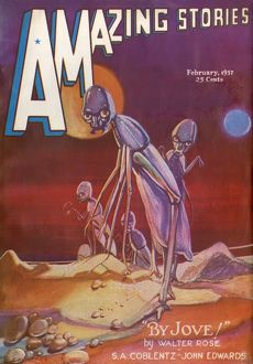 By Jove, Alien Entity, Amazing Stories Scifi Magazine Cover