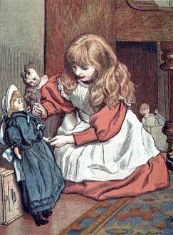 Little Girl playing with her Sailor Doll, 1888