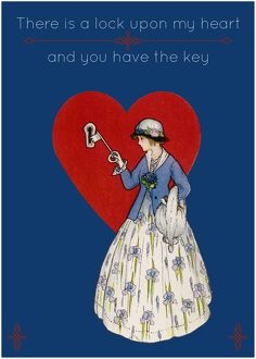 There is a lock upon my heart - and you have the key