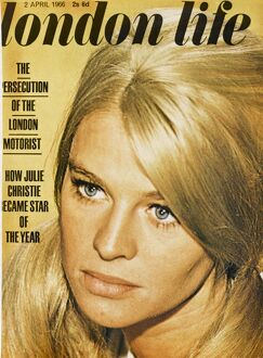London Life front cover 1966 featuring Julie Christie