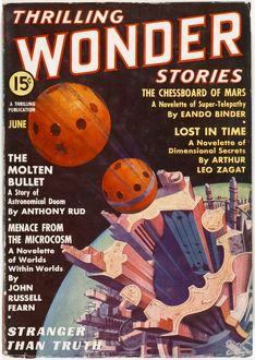 Lost in Time, Thrilling Wonder Stories Scifi Magazine Cover