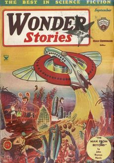 The Man from Beyond, Wonder Stories SciFi Magazine Cover