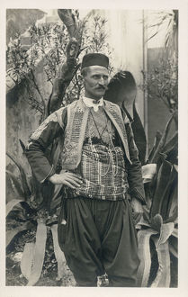 new items grenville collins collection/man traditional costume dubrovnik region croatia