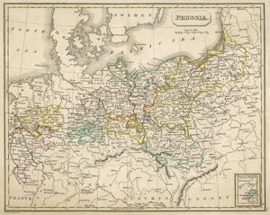 MAP/EUROPE/GERMANY 1827