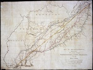 Map of Washington to New Orleans