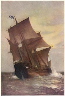 MAYFLOWER IN FULL SAIL
