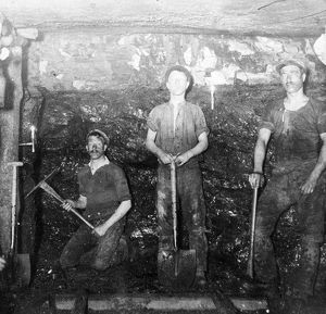 Miners at Baldwin's Clog and Legging Level, South Wales