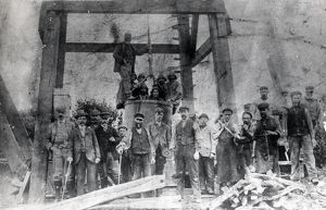 Miners and owner, Hook Colliery, Pembrokeshire, South Wales