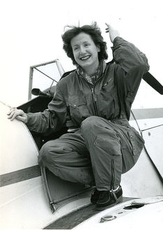 Miss A.A. Windle who flew Miles Magister, G-AKUA, and Wh?