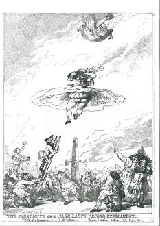 Mrs. Letitia Sage, first Englishwoman to ascend in a balloon