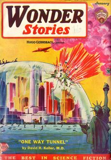 New York Dome, Wonder Stories Scifi Magazine Cover