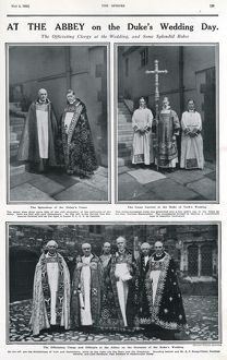 Officiating clergy at the Royal wedding, 1923