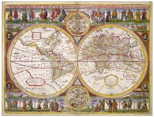 OVERTON WORLD MAP/1670