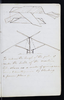 Page from the original notebook of George Cayley