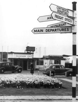 Passenger Terminal at Heathrow Airport in the early 1950s