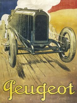 PEUGEOT CAR ADVERT 1930S