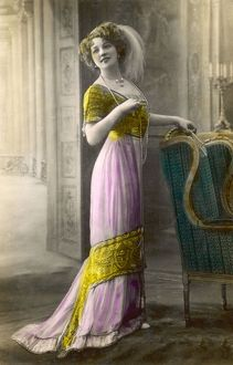 PINK & GOLD GOWN C.1911