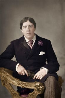 Portrait of Oscar Wilde - Irish Playwright sitting in chair