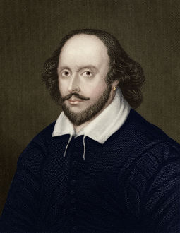 Portrait of William Shakespeare - English Playwright and poet
