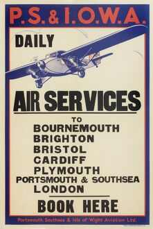 Portsmouth, Southsea & Isle of Wight Aviation Poster