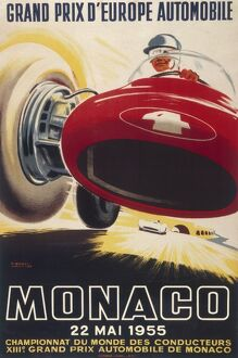Poster for the 13th Monaco Grand Prix