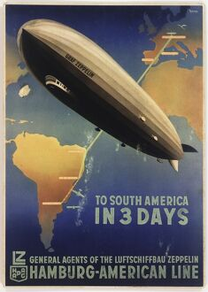 Poster, Zeppelin to South America