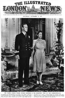 Princess Elizabeth and Lieutenant Philip Mountbatten