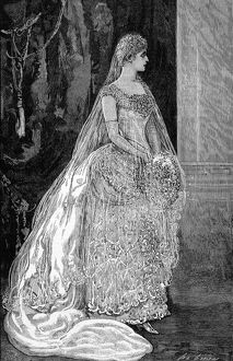 Princess Victoria of Hesse in her wedding dress